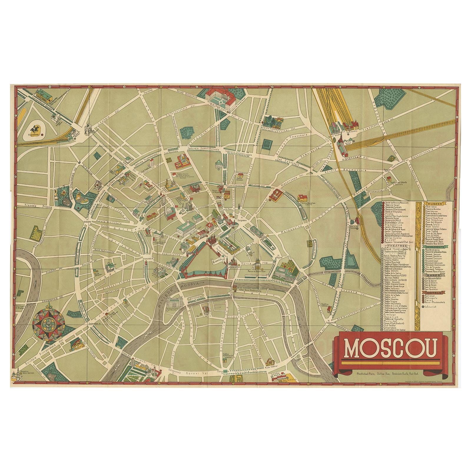 Moscow Russia Map Cufflinks