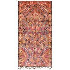 Vintage Folk Art Moroccan Rug