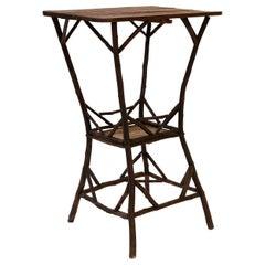 Vintage Folk Art Twig Table