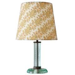 Vintage Fontana Arte Glass Table Lamp