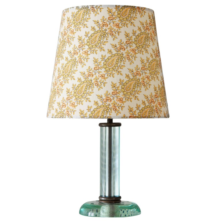 Vintage Fontana Arte Glass Table Lamp For Sale