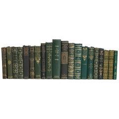 Vintage Forest and Gilt Book Set