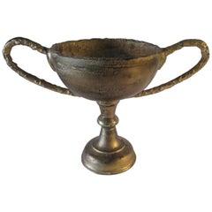Vintage Forged Iron Primitive Trophy