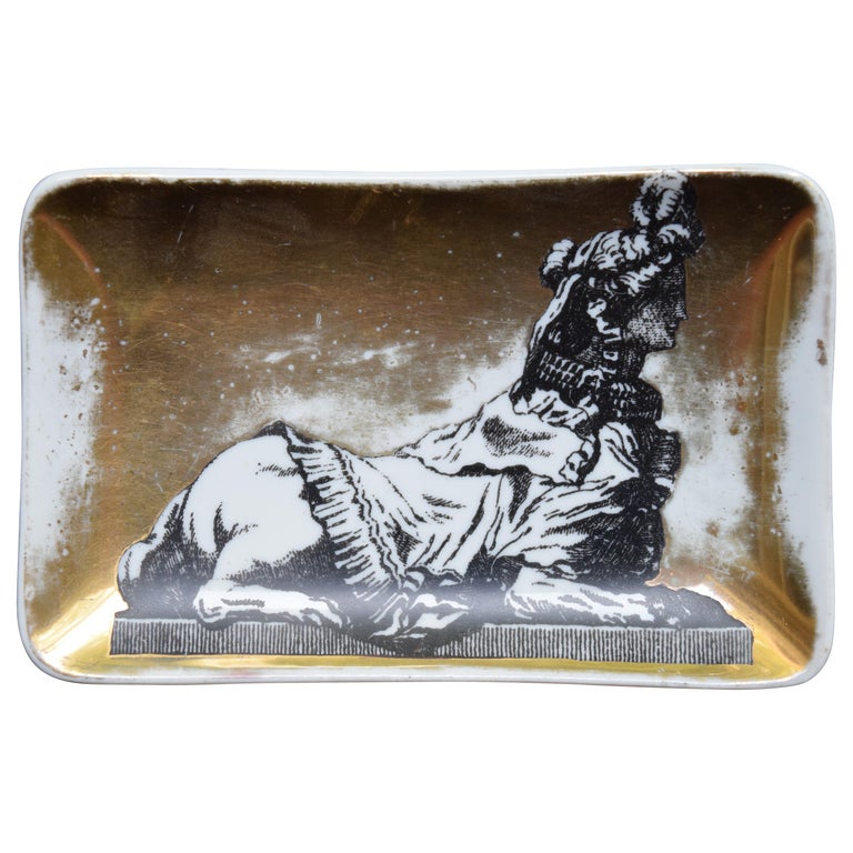 Vintage Fornasetti Sphinx Dish For Sale