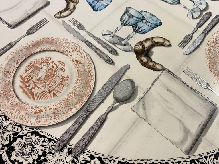 Vintage Fornasetti Tromp L'oeil Dining or Centre Table For Sale 3