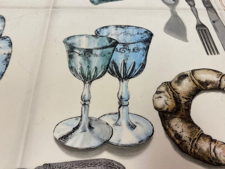 Vintage Fornasetti Tromp L'oeil Dining or Centre Table For Sale 2