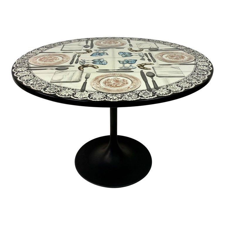 Vintage Fornasetti Tromp L'oeil Dining or Centre Table For Sale