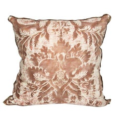 Vintage Fortuny Glicine Pattern Cushion