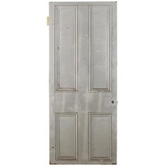 Vintage Four Beaded Panel Pine Door, 20th Century