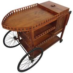 Vintage Four-Tiered Serving Cart