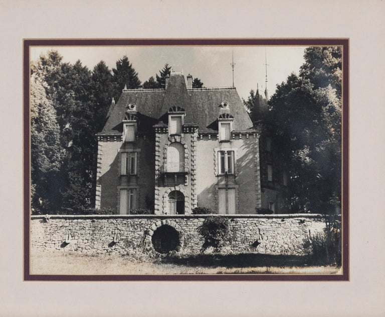 French Vintage Framed Black and White Photograph, 'Le Chateau', France, circa 1950's For Sale