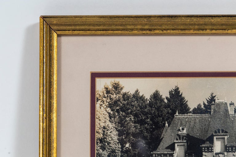 Vintage Framed Black and White Photograph, 'Le Chateau', France, circa 1950's In Good Condition For Sale In Chappaqua, NY