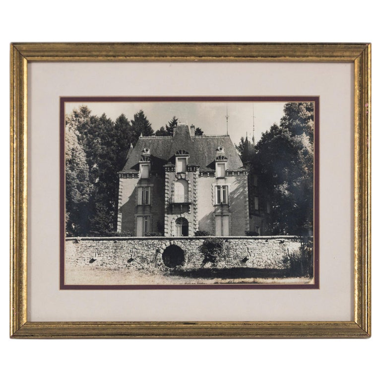 Vintage Framed Black and White Photograph, 'Le Chateau', France, circa 1950's For Sale