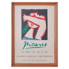 Vintage Framed Pablo Picasso Exhibition Poster from Gallery in Rome, Italy, 1953