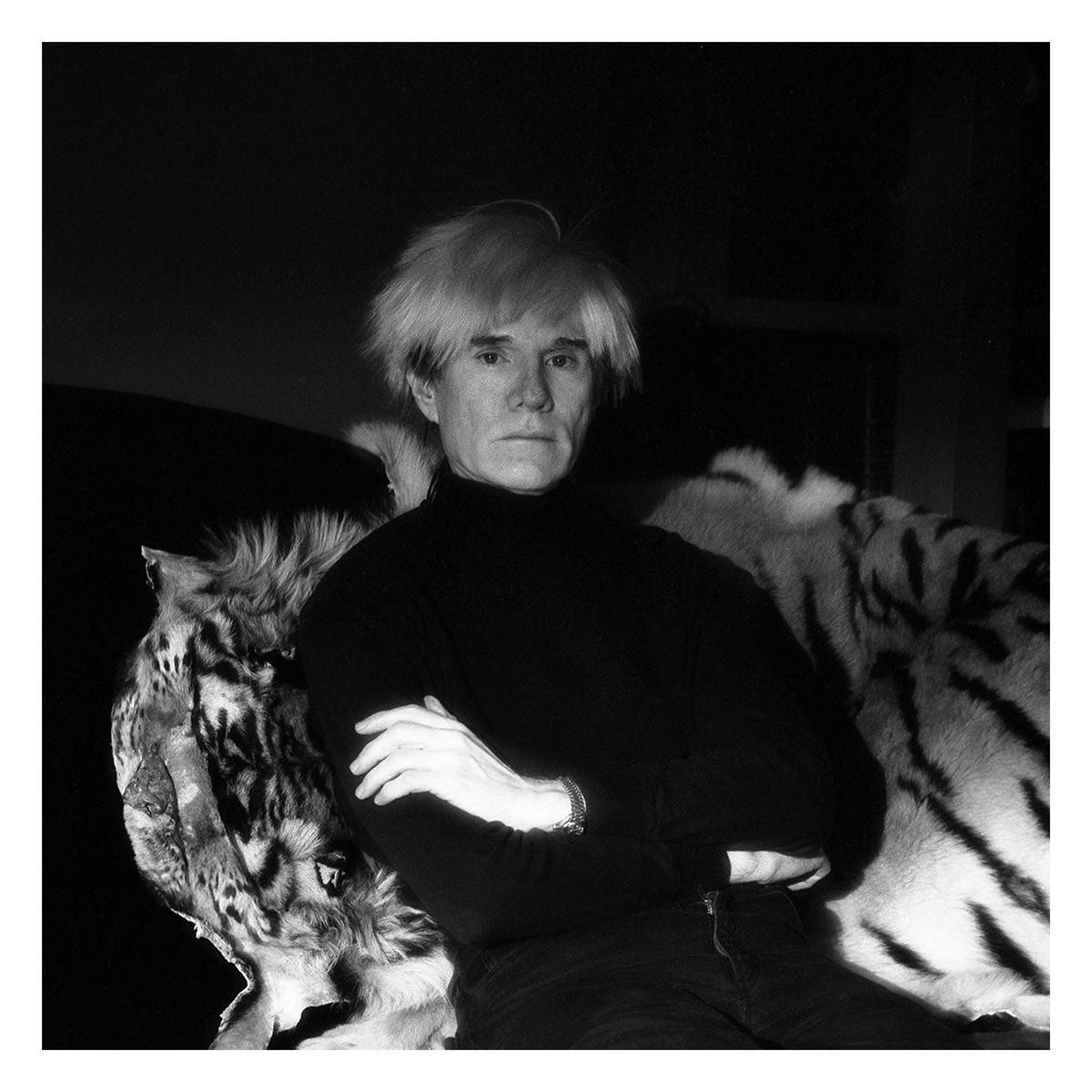 Vintage Framed Photograph of Andy Warhol