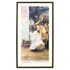 Vintage Framed Spanish Museum Print of a Flamenco Dancer, 20th Century