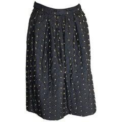 Vintage Franco Bertoli Silk Skirt with Decoration