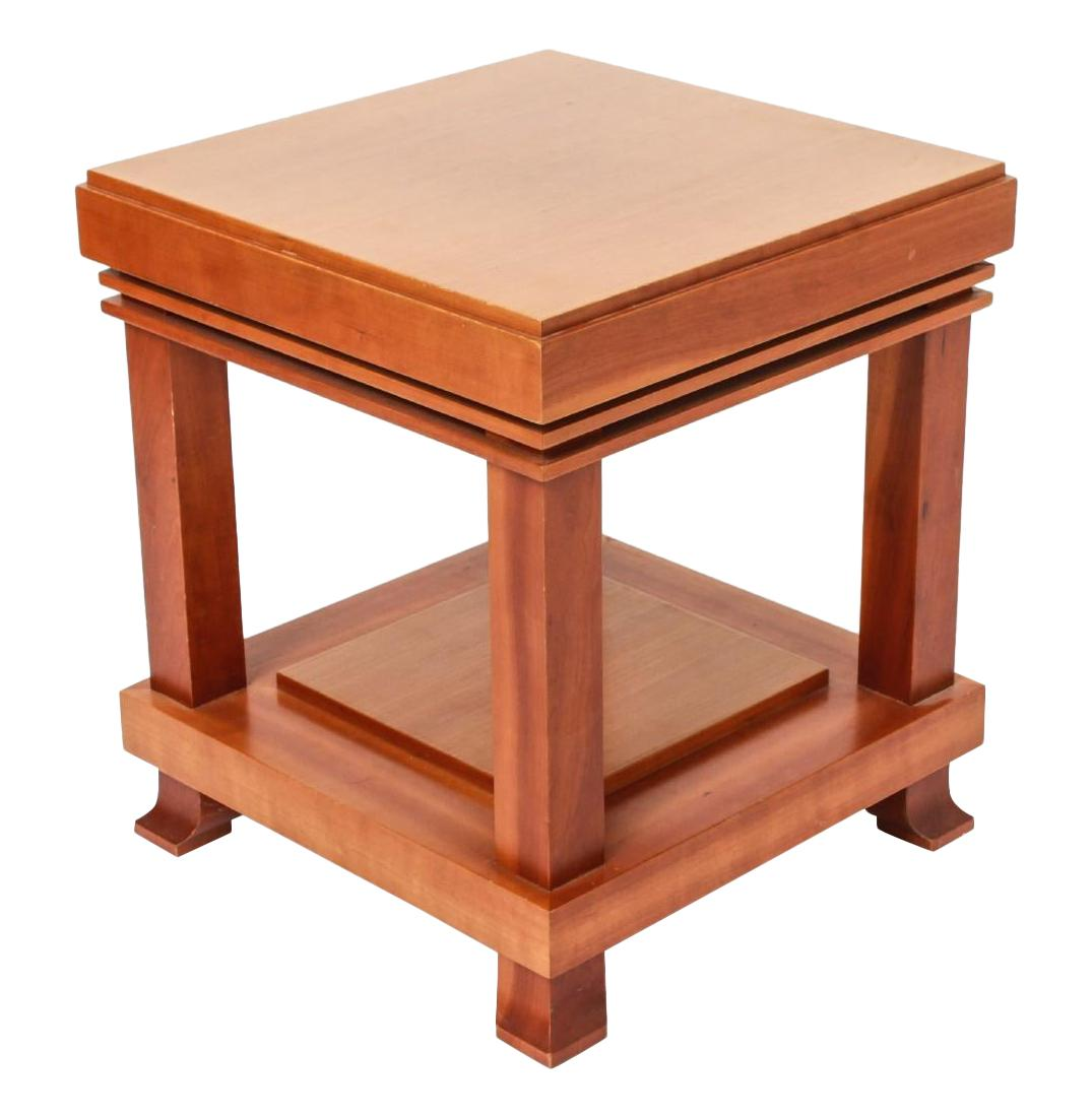 """Vintage Frank Lloyd Wright for Cassina """"Robie"""" Maple Wood Side Table 1989 Signed"""
