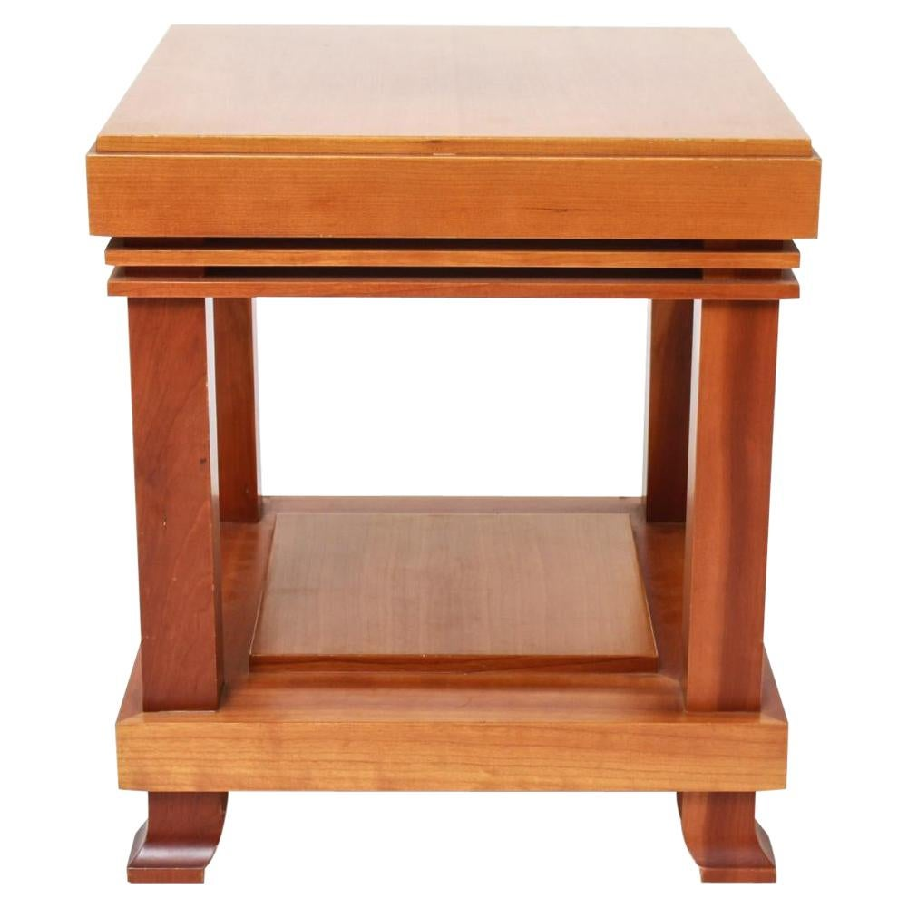 """Vintage Frank Lloyd Wright for Cassina """"Robie"""" Cherrywood Side Table 1989 Signed"""