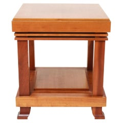 "Vintage Frank Lloyd Wright for Cassina ""Robie"" Cherrywood Side Table 1989 Signed"