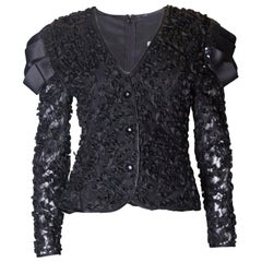 Vintage Frank Usher Black Evening Top
