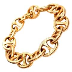 Vintage French 18 Karat Gold Mariner's Link Bracelet