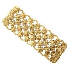 Vintage French 18 Karat Yellow Gold Bracelet