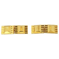 Vintage French 18 Karat Yellow Gold Cufflinks, 1950s