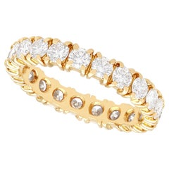 Vintage French 1.95 Carat Diamond and Yellow Gold Full Eternity Ring