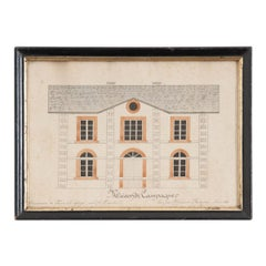Vintage French Architectural Drawing