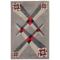 "Vintage French Art Deco Carpet Designed by Pierre Cardin. Size: 6' 9"" x 9' 2"""