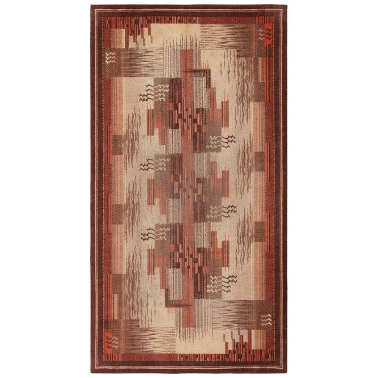 Vintage French Art Deco Carpet. Size: 5 ft x 9 ft (1.52 m x 2.74 m) For Sale