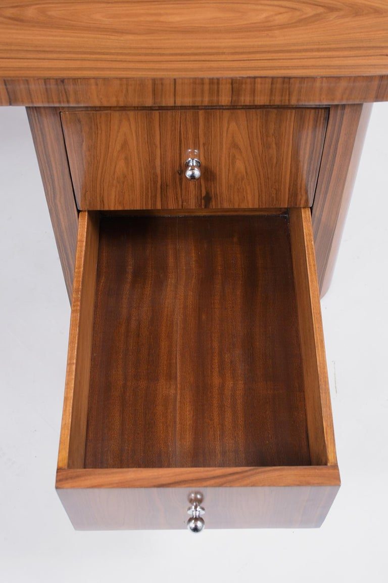Carved French 1960s Art Deco Desk For Sale