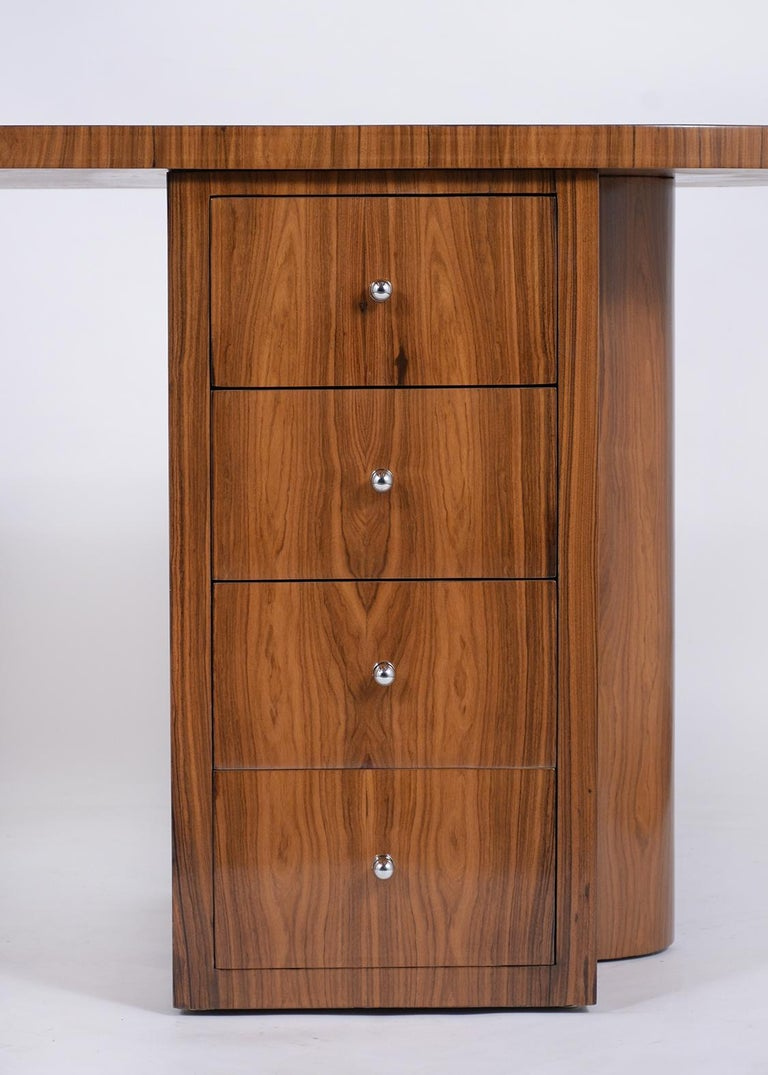 Mid-20th Century French 1960s Art Deco Desk For Sale