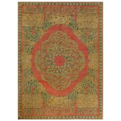 Vintage French Art Deco Handwoven Wool Rug by Paul Follot