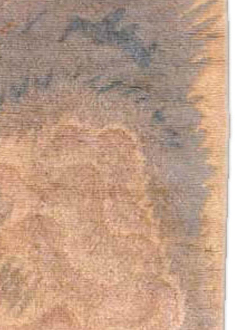 Vintage French Art Deco Purple, Blue and Sand Yellow Wool Carpet In Good Condition For Sale In New York, NY