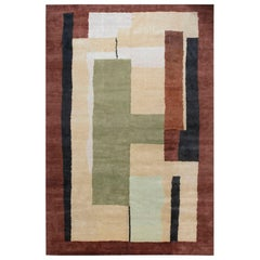 Vintage French Art Deco Rug Attributed to Da Sylva Bruhns