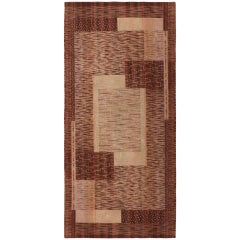 Vintage French Art Deco Rug. Size: 4 ft x 9 ft (1.22 m x 2.74 m)