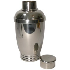 Vintage French Art Deco Silver Plated Cocktail Shaker, circa 1930
