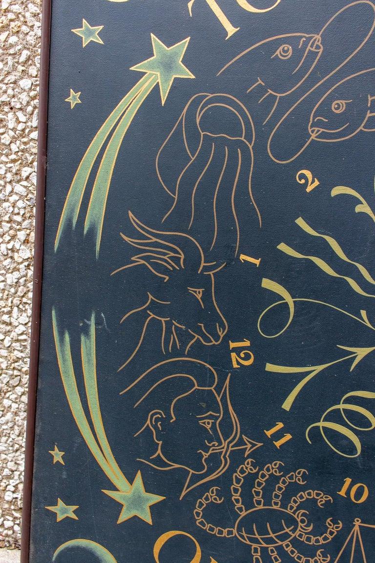 Vintage French Astrological Art Panel For Sale 5