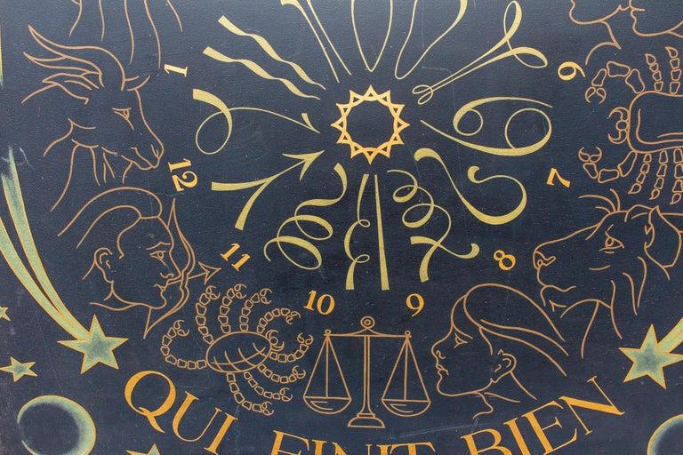 Vintage French Astrological Art Panel For Sale 7