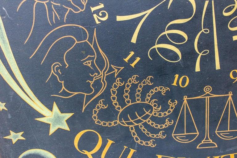 Vintage French Astrological Art Panel For Sale 9