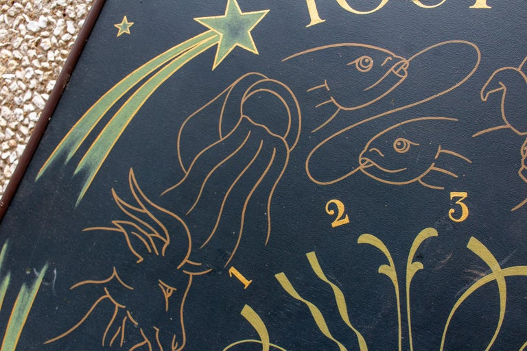 Vintage French Astrological Art Panel For Sale 10