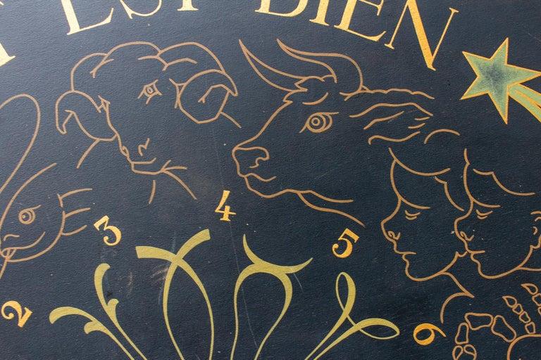 Vintage French Astrological Art Panel For Sale 11