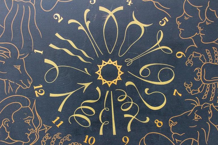 Vintage French Astrological Art Panel For Sale 3