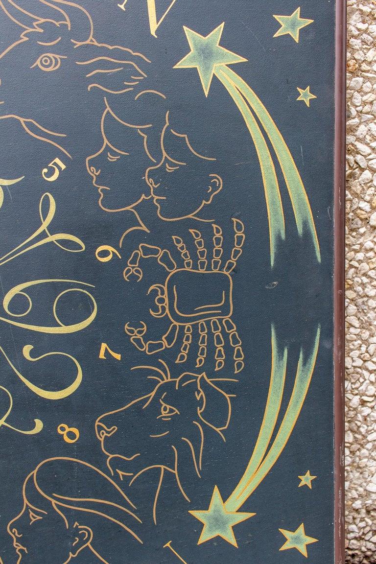 Vintage French Astrological Art Panel For Sale 4