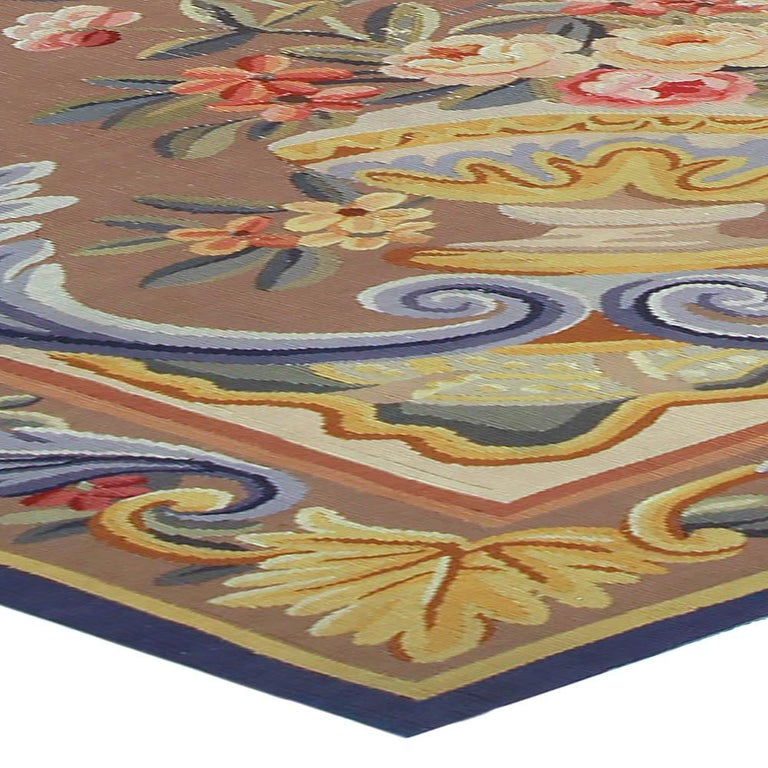 20th Century Vintage French Aubusson Rug For Sale