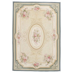 Vintage French Aubusson Rug with Regal Romantic Rococo Style