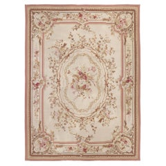 Vintage French Aubusson Rug with Romantic Rococo Style
