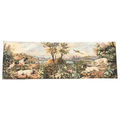 Vintage French Aubusson Style Jaquar Tapestry
